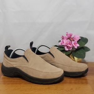 LL Beans  Mocs Suede uppers stain/resistant